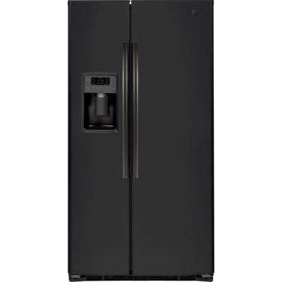 21.8 cu. Ft. Side by Side Refrigerator in Black Slate, Counter Depth and Fingerprint Resistant
