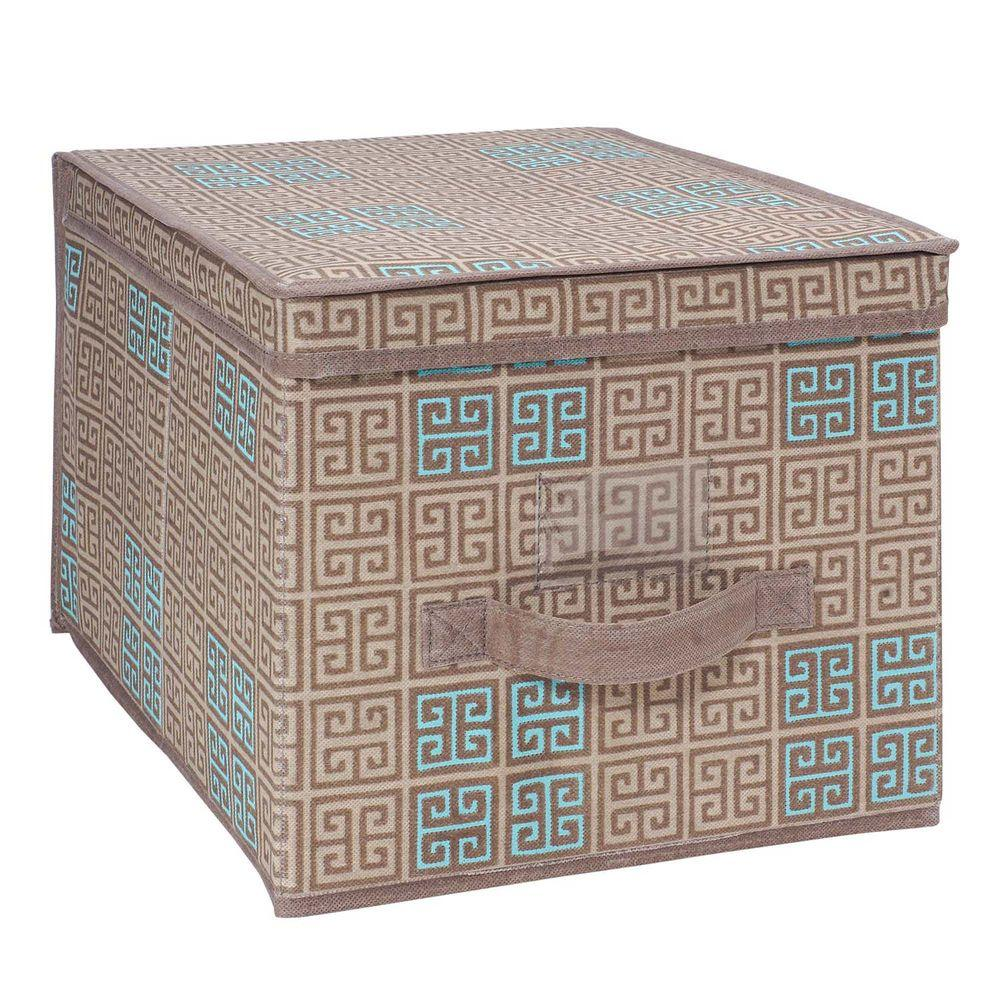 Seda France Large Polypropylene Storage Box in Cameo Key Taupe
