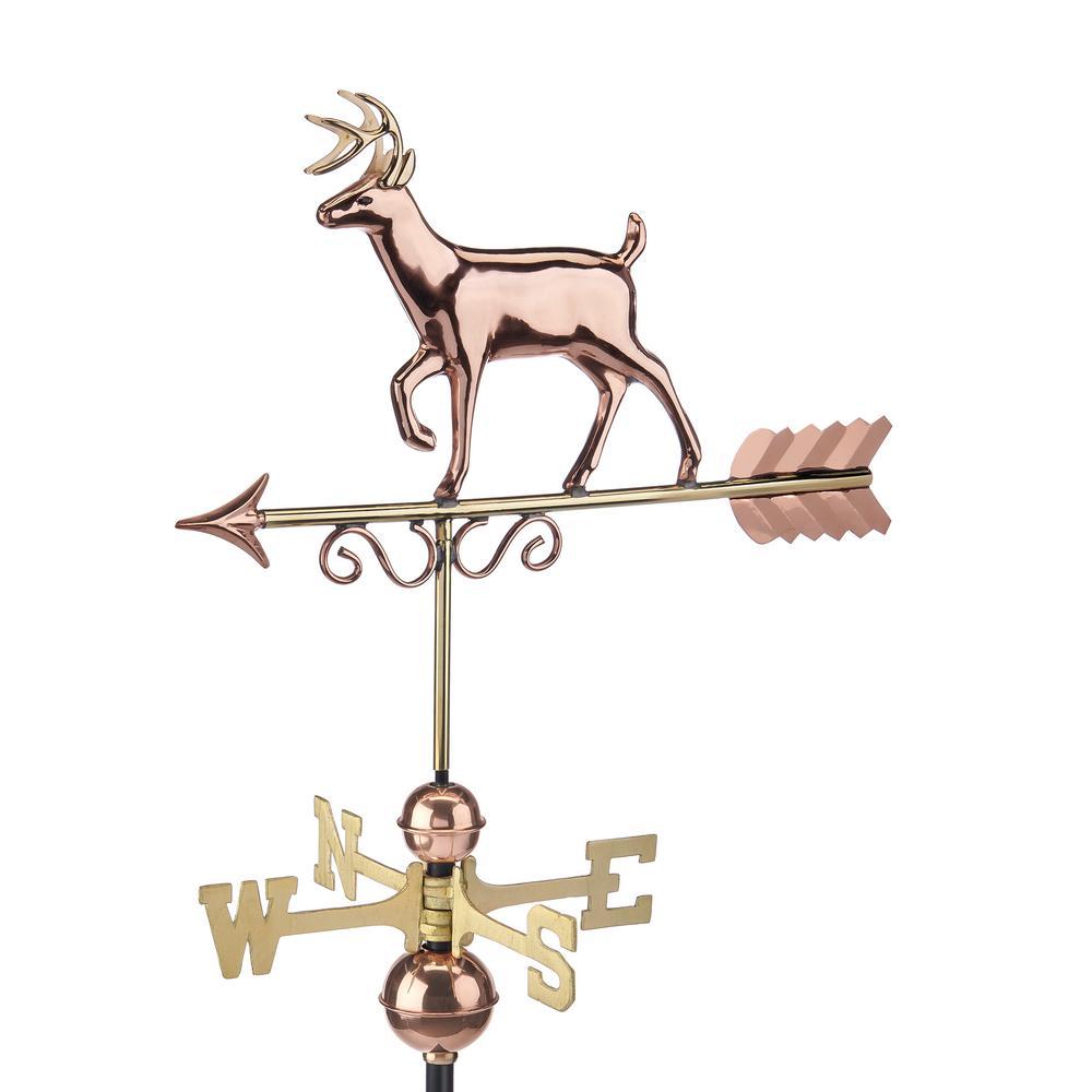 Pure Copper Proud Buck Weathervane