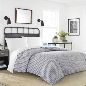 Coleridge Stripe 4-Piece Duvet Cover/Sheet Set Bundle, Twin