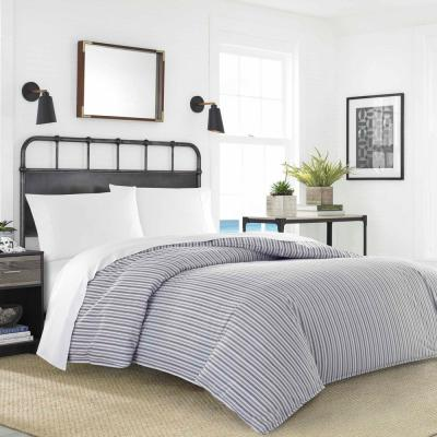 Coleridge Stripe 5-Piece Duvet Cover/Sheet Set Bundle, Full