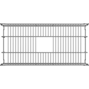 Dart Canyon 27-1/2 in. x 13 in. x 4-3/8 in. Reversible Bottom Grid in Stainless Steel