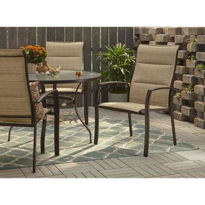 Mix and Match Stackable Oversized Metal Outdoor Dining Chair in Cafe Padded Sling  sc 1 st  Home Depot & Outdoor Dining Chairs - Patio Chairs - The Home Depot