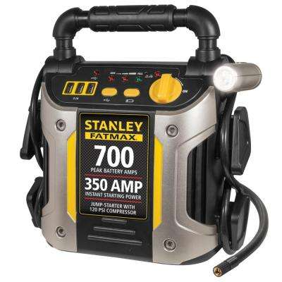 Jump Starter: 700 Peak/350 Instant Amps 120 PSI Air Compressor