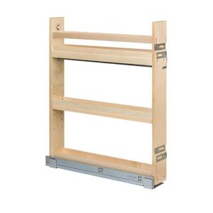3-1/2 in. W Baltic Birch Cabinet Base Pull-Out Organizer