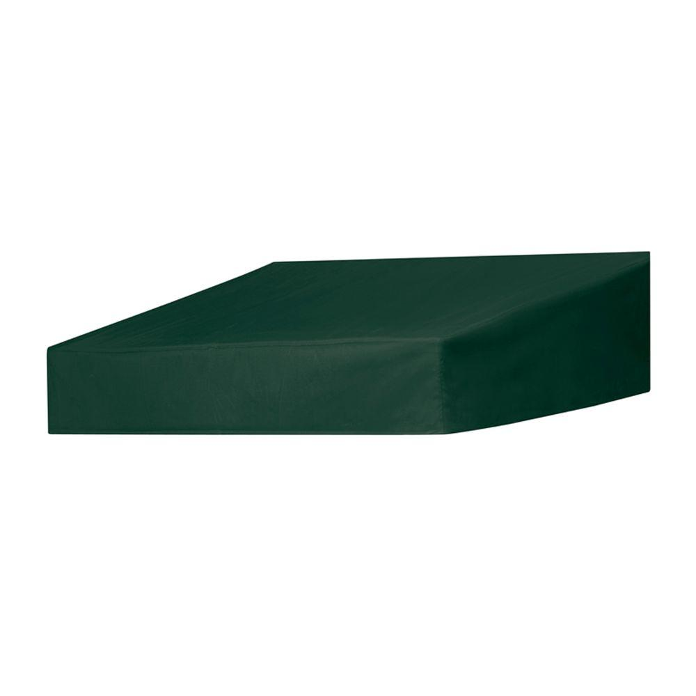 Door Canopy in a Box 4 ft. Classic Door Canopy in a Box Replacement Cover in Forest Green