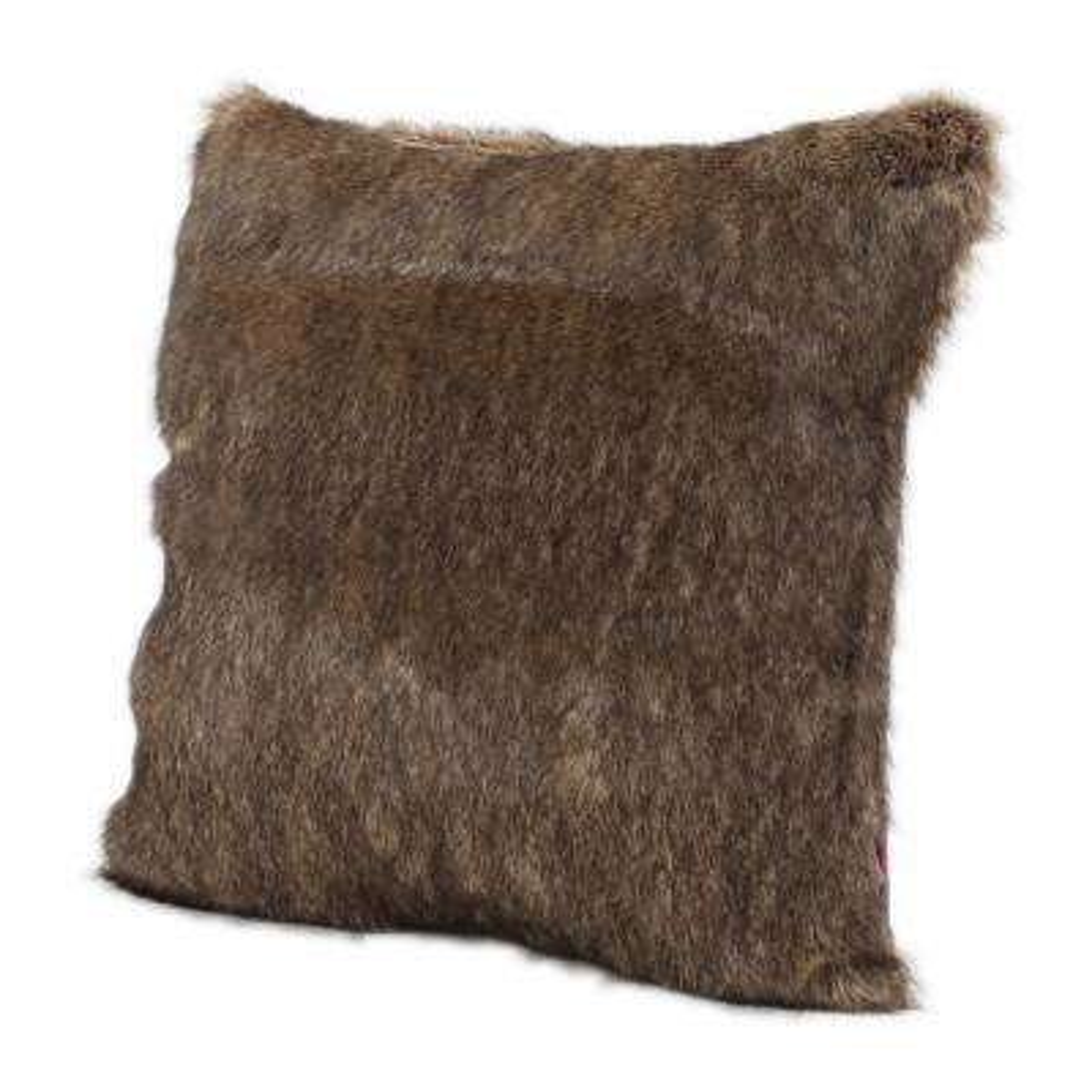 Lindsey Dark Brown Polyester Fiber Standard Deco Pillow