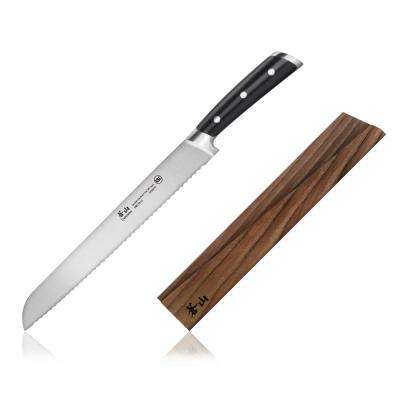 TS Series Sandvik Swedish Steel Forged 10.25 in. Bread Knife and Wood Sheath Set