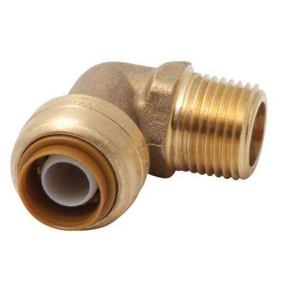 1/2 in. Brass 90-Degree Push-to-Connect x MNPT Elbow