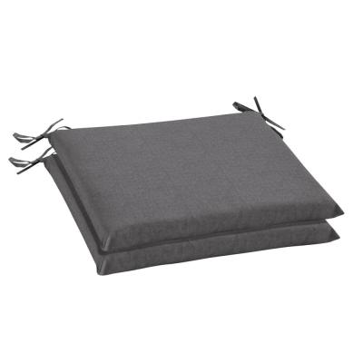 Oak Cliff 20 x 18 Sunbrella Cast Slate Outdoor Chair Cushion (2-Pack)