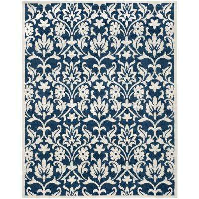 Amherst Navy Ivory 8 Ft X 10 Indoor Outdoor Area Rug