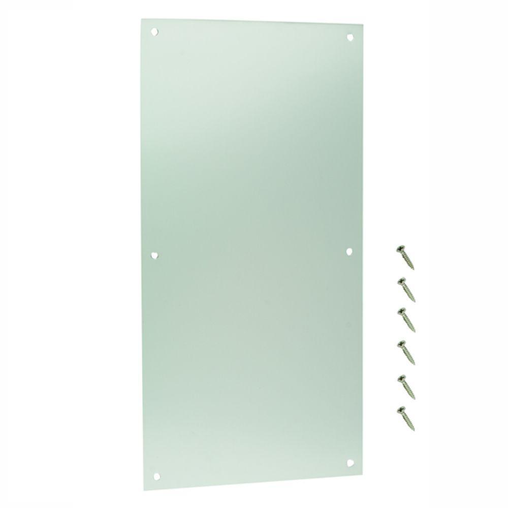 Everbilt 8 in. x 16 in. Satin Aluminum Push Plate