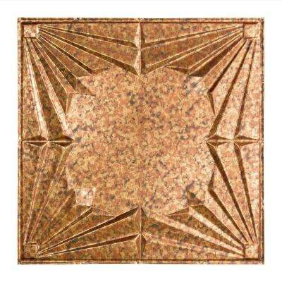Art Deco - 2 ft. x 2 ft. Lay-in Ceiling Tile in Cracked Copper