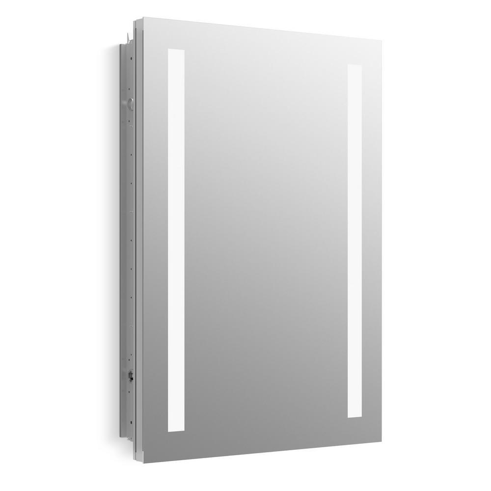 KOHLER Verdera 20 in. W x 30 in. H Surface-Mount Lighted Medicine Cabinet