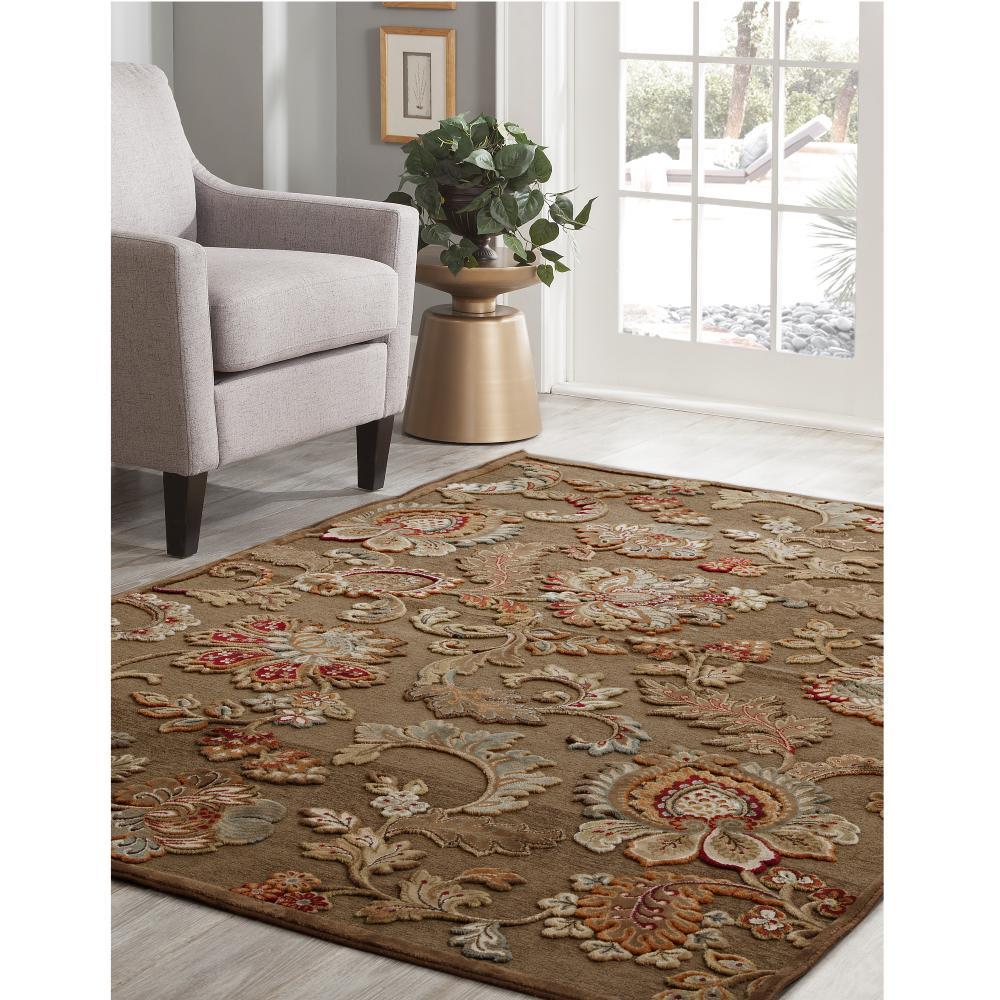 Sams international napa fulton brown 5 ft 3 in x 7 ft 6 for International decor rugs