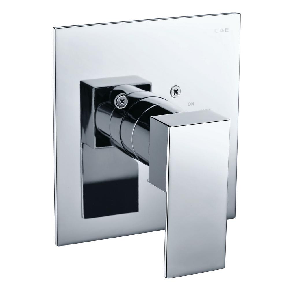 Single-Handle Shower Mixer with Sleek Modern Design, Polished Chrome