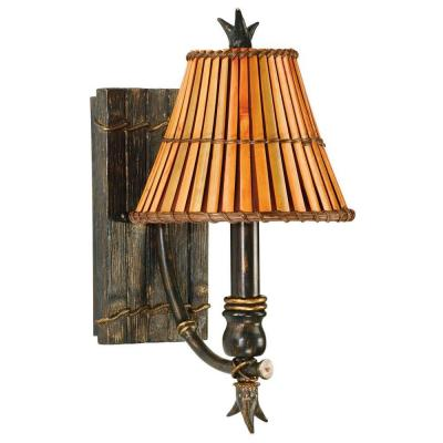 Kwai 1-Light Bronze Heritage Wall Sconce