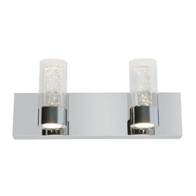 Essence 15.9 in. Chrome LED Vanity Light Bar with Bubble Glass