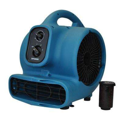 Freshen Aire 1/5 HP 3 Speeds Scented Air Mover, Carpet Dryer, Floor Fan, Blower with Timer and Power Outlets
