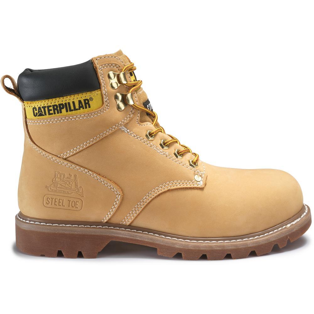 ee5a7766e7b CAT Footwear Second Shift Men's Size 9M Honey Steel Toe Boots