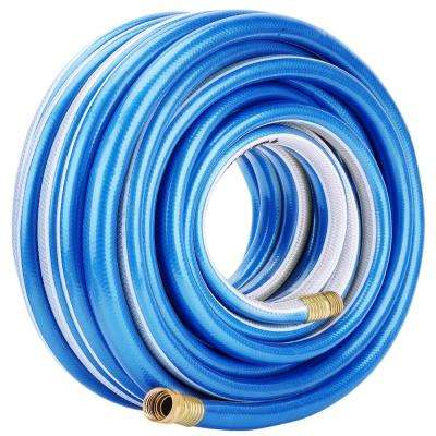 3/4 in. Dia x 75 ft. Blue and White Heavy-Duty 4-Star Garden Hose