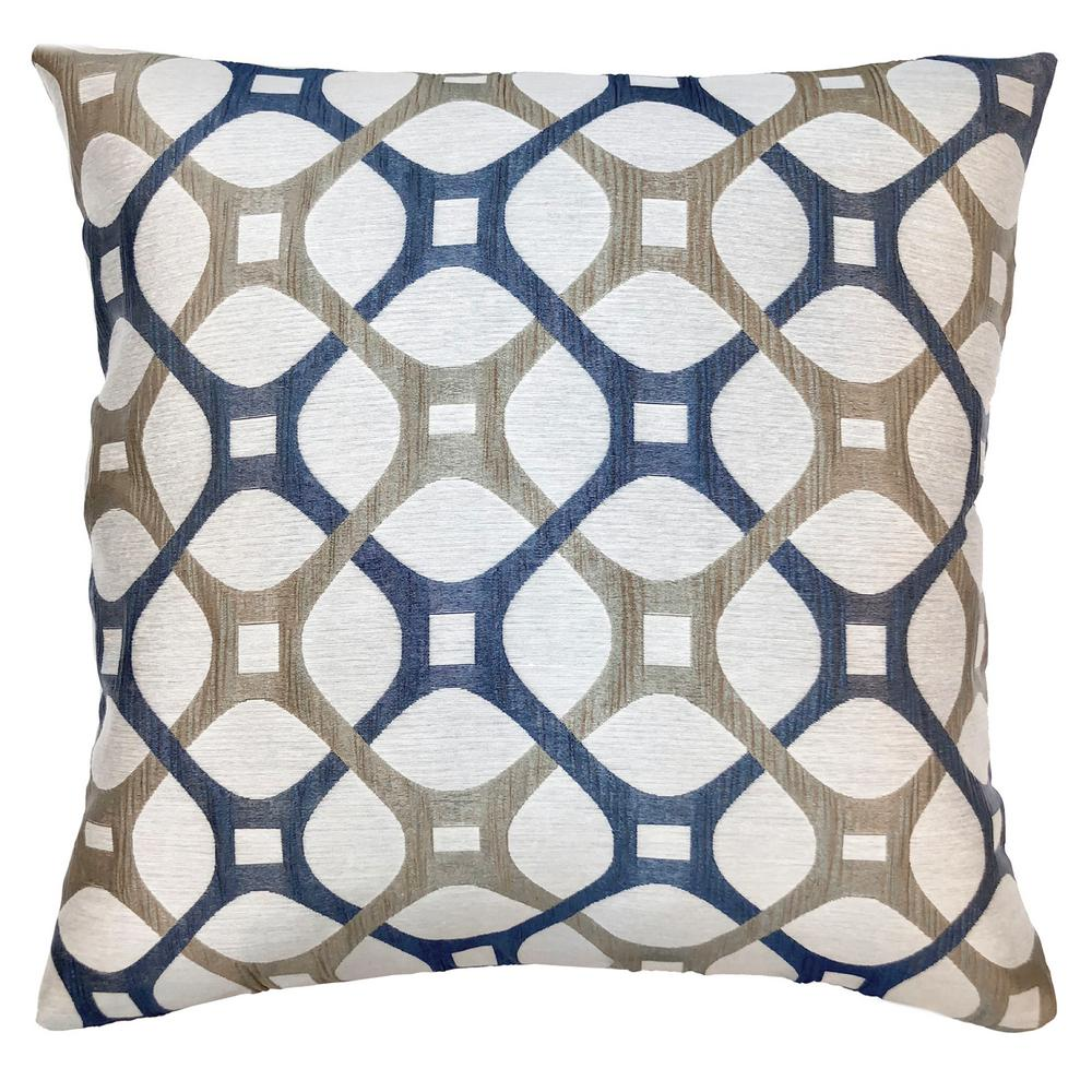 Roxbury Cobalt Geometric Down 7 In X 20 Throw Pillow