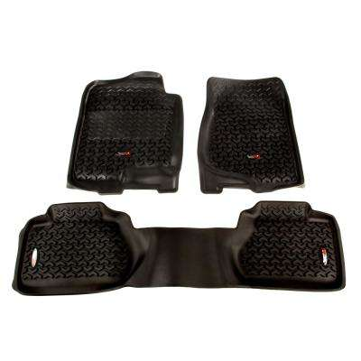 Black Floor Liner Kit 2007 2011 GM Trucks Extended Cab