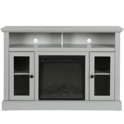 Nashville 47 in. Dove Gray Particle Board TV Stand Fits TVs Up to 50 in. with Electric Fireplace