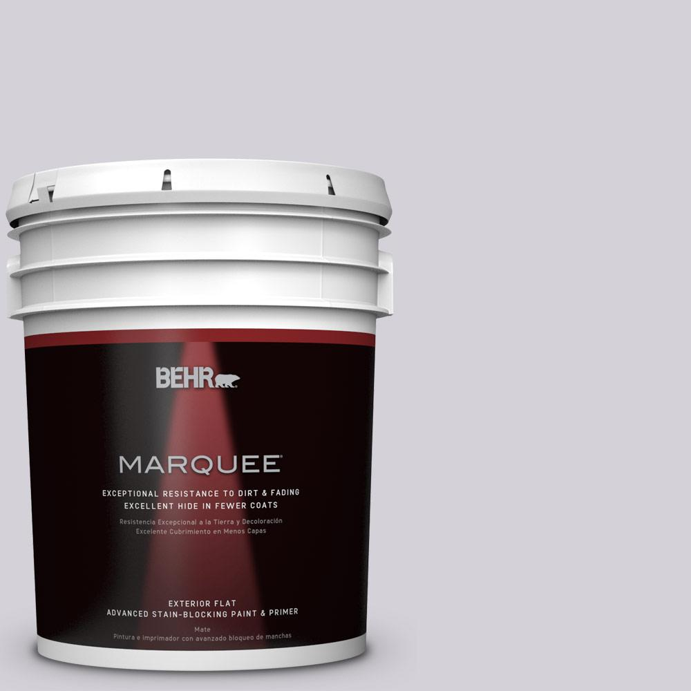 5-gal. #N100-2 Etude Lilac Flat Exterior Paint