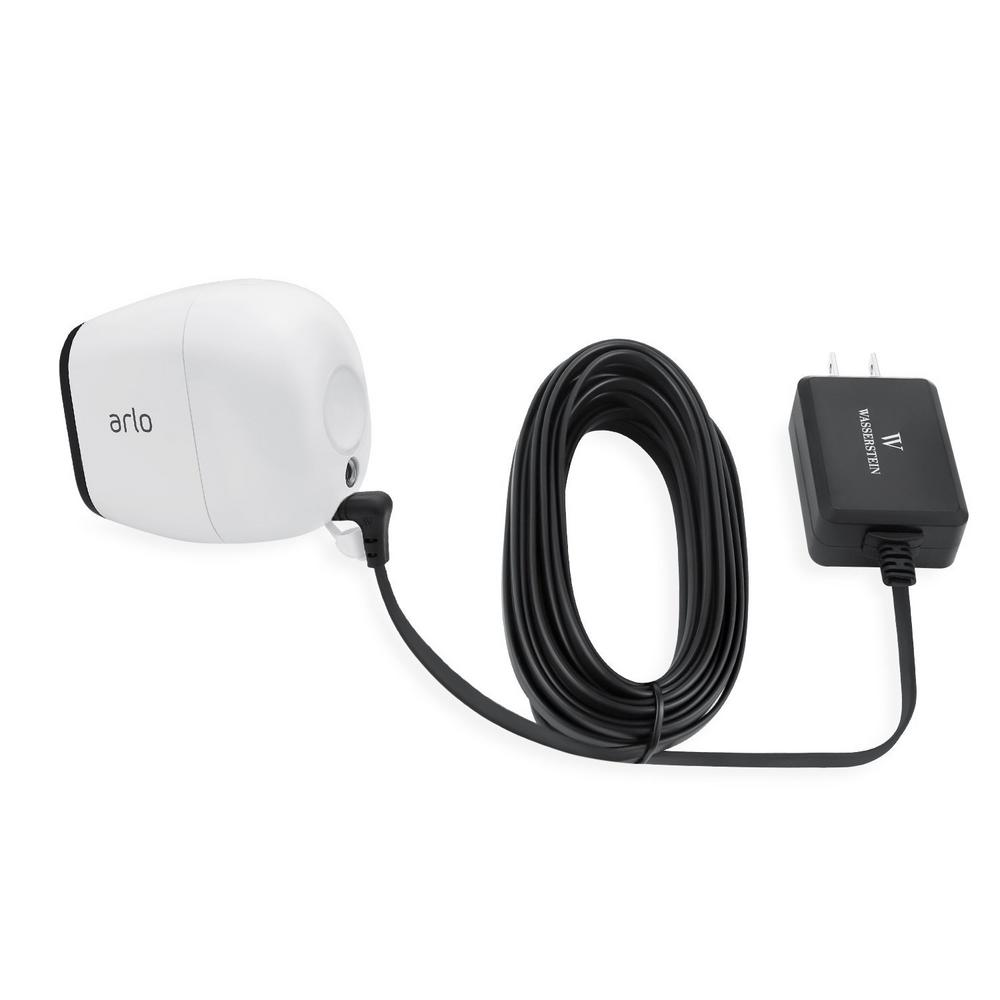 Wasserstein Weatherproof Outdoor Quick Charge 3 0 Power Adapter for Arlo  PRO and Arlo GO, Black