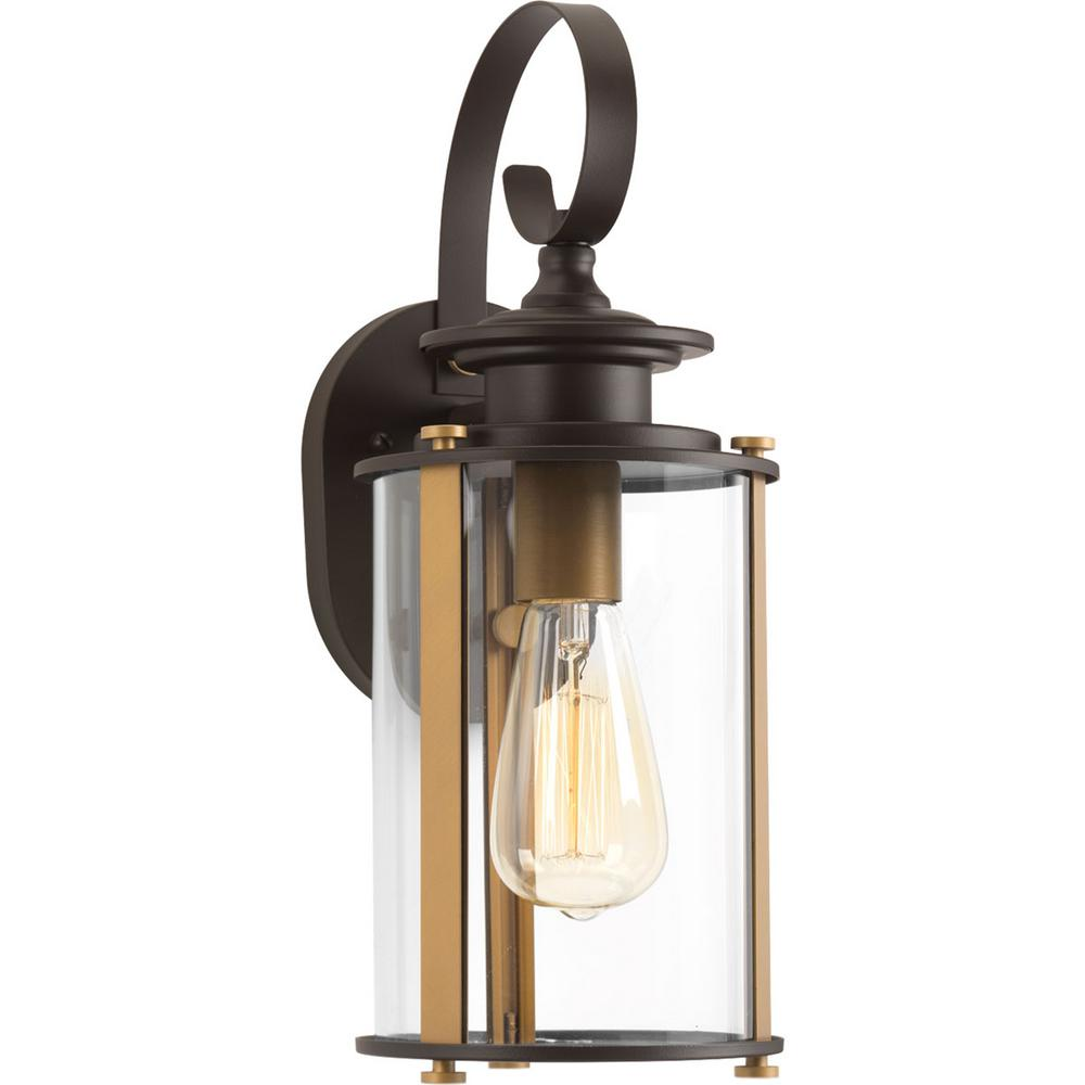 Squire Collection 1-Light Antique Bronze Outdoor Wall Lantern