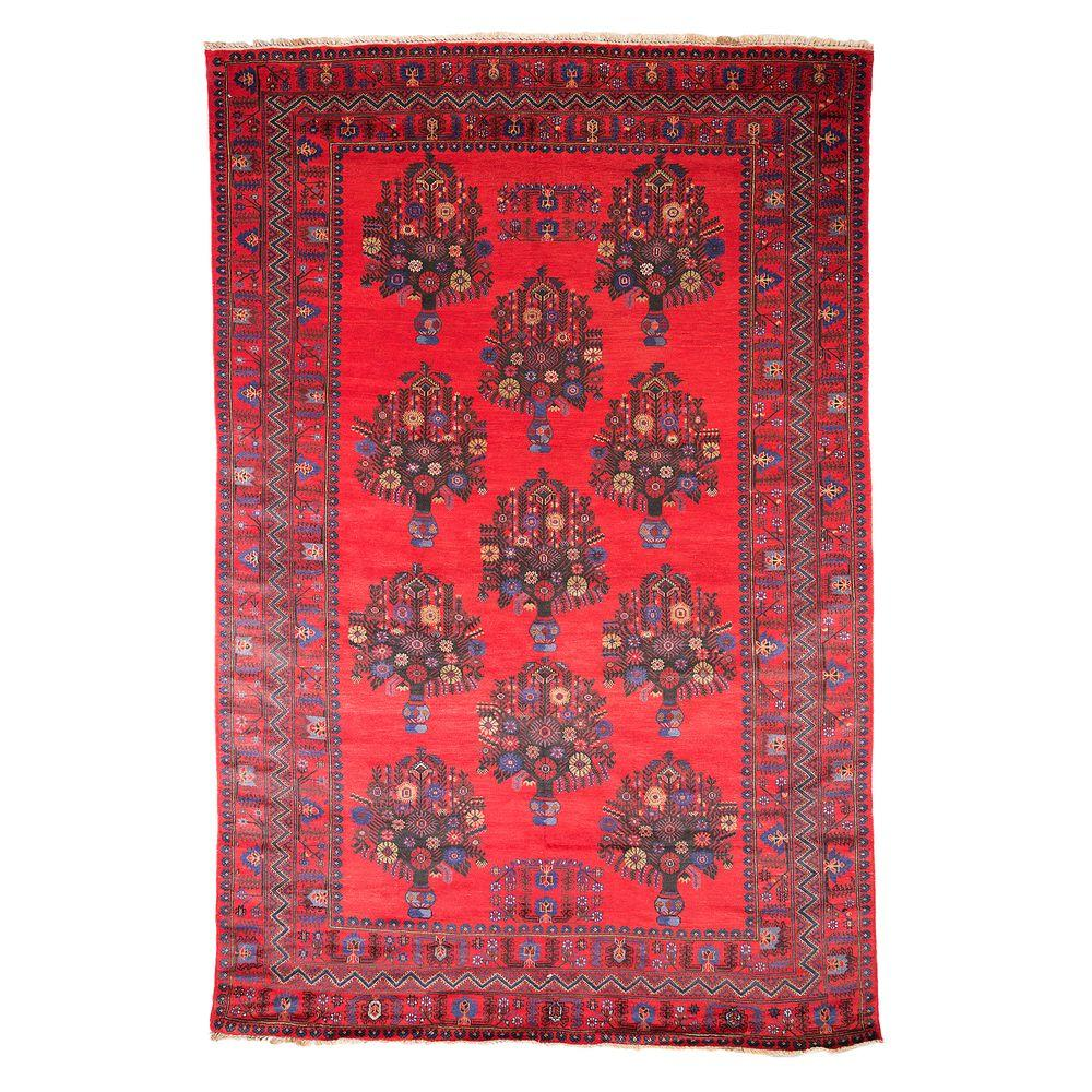 Darya Rugs Tribal Red 6 ft. 4 in. x 9 ft. 8 in. Indoor Area Rug