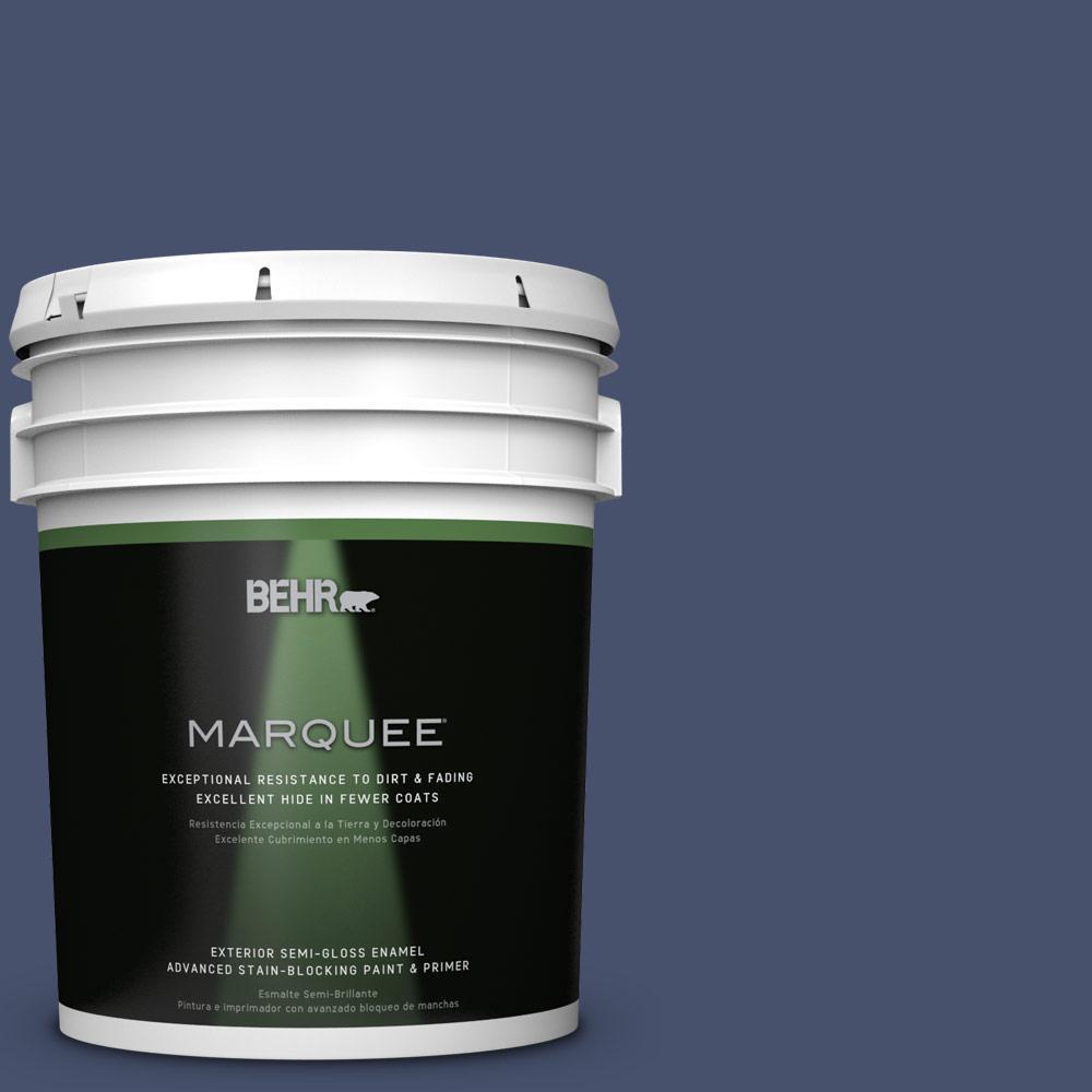 5-gal. #M530-7 Elegant Navy Semi-Gloss Enamel Exterior Paint