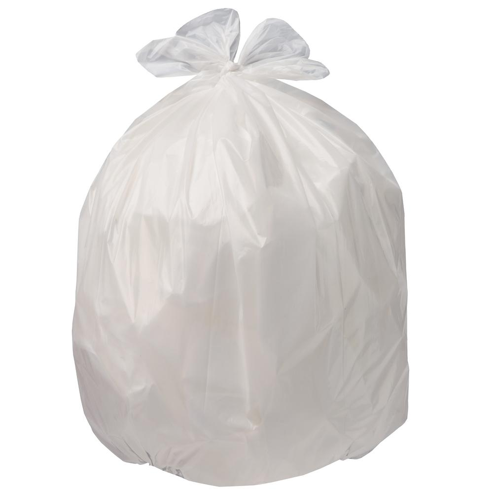 100 ct 4 Gallon Clear Kitchen Bathroom Trash Bag Garbage Can Liners Small Bags