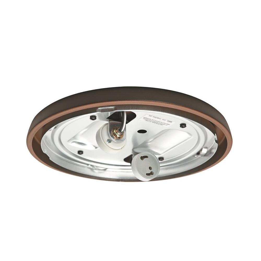 Brushed Cocoa Bronze CFL Low Profile Light Fitter
