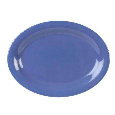 Coleur 9-1/2 in. x 7-1/4 in. Platter in Purple (12-Piece)