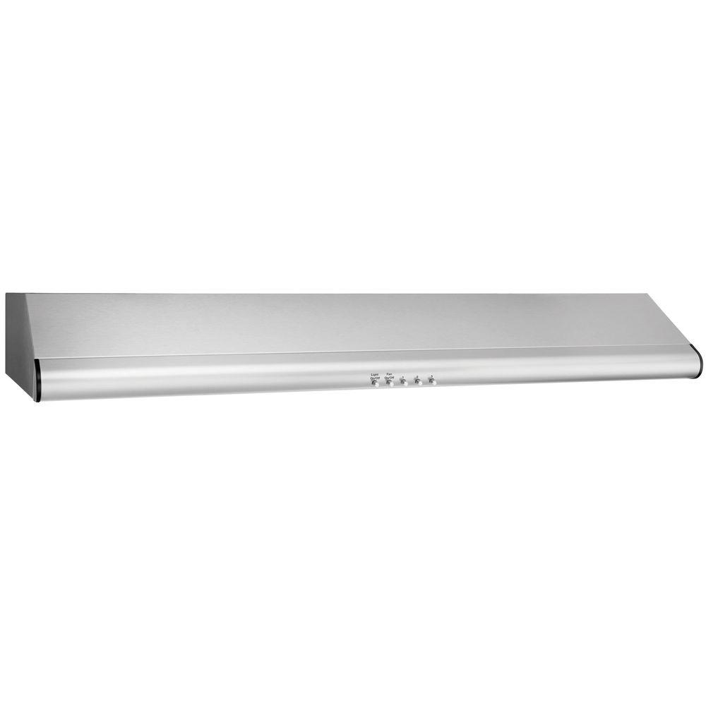 36 in. Under Cabinet Convertible Range Hood with Push Buttons in