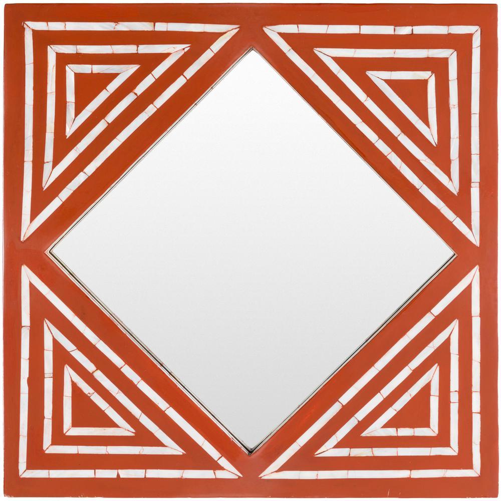 Livia 24 in. x 24 in. MDF Framed Mirror