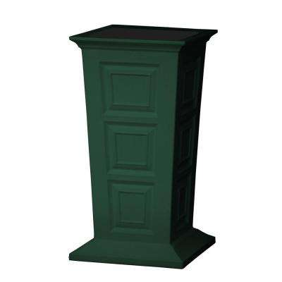 Savannah 16 in. Square Green Poly-Resin Column Planter