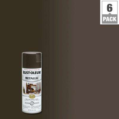 11 oz. Metallic Dark Bronze Protective Spray Paint (6-Pack)
