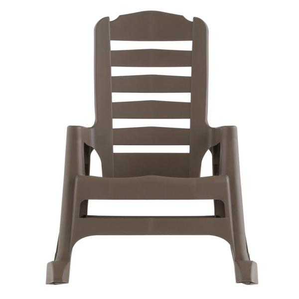 Big Easy Plastic Outdoor Rocking Chair Mushroom 8080 96 4300 The Home Depot
