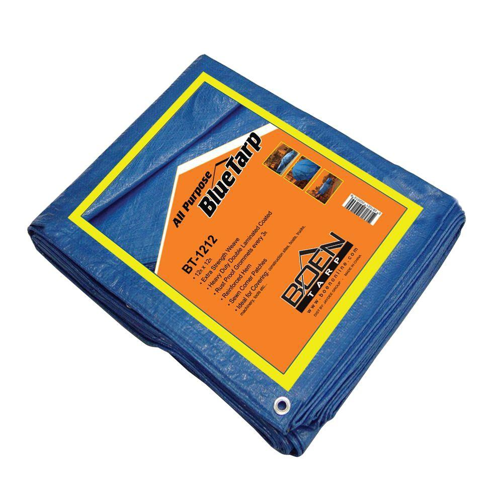 12 ft. x 12 ft. All Purpose Blue Tarp (16-Pack)