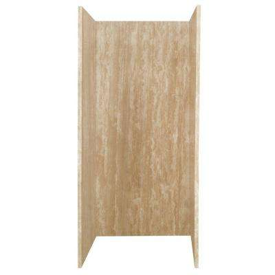 36 in. x 36 in. x 80 in. 3-Piece Glue-Up Shower Wall in Ivory Select