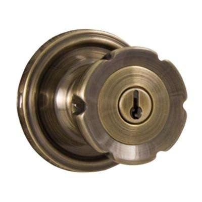 Traditionale Antique Brass Keyed Entry Eleganti Knob