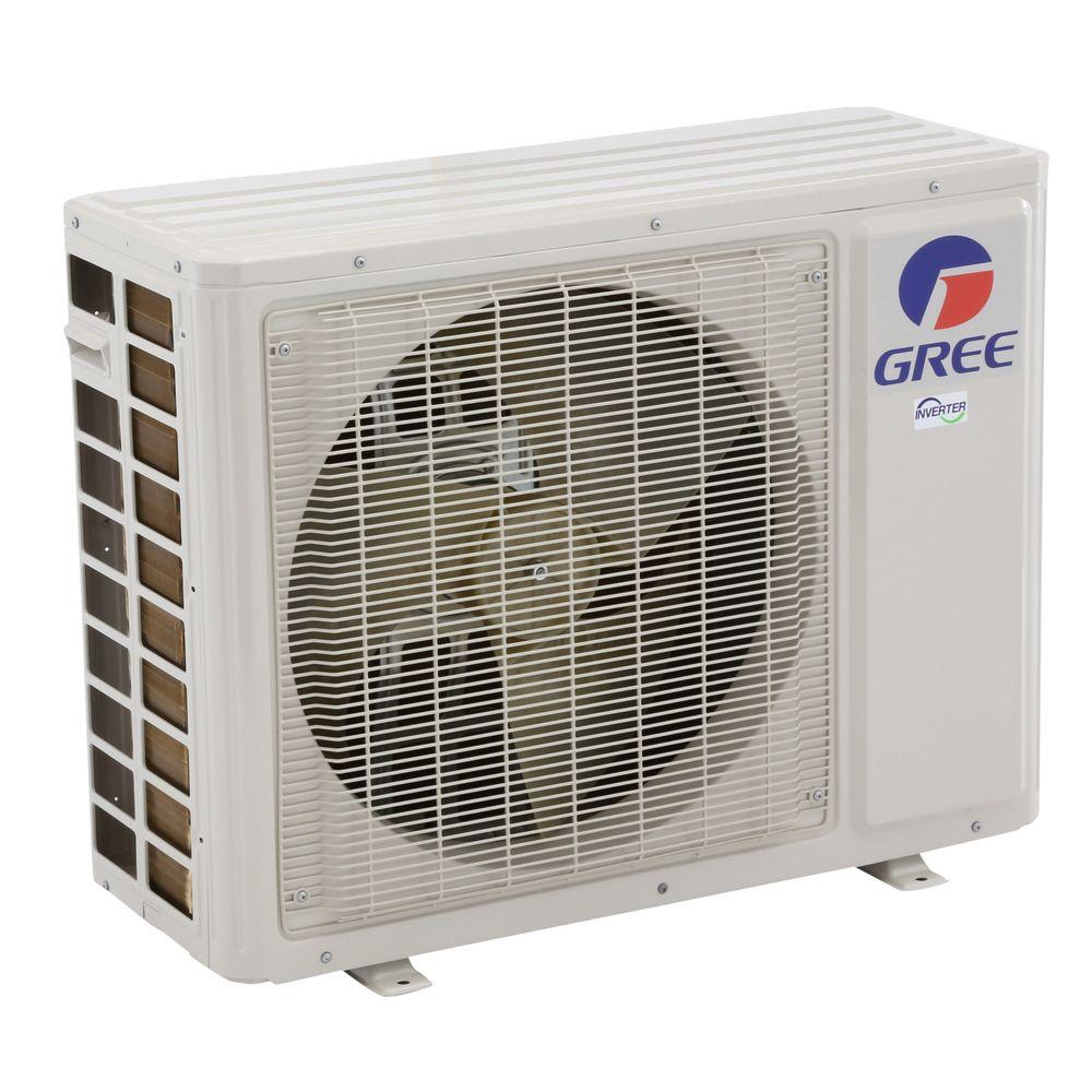 Gree ultra efficient 18 000 btu 1 5ton ductless mini split for 18000 btu ac heater window unit