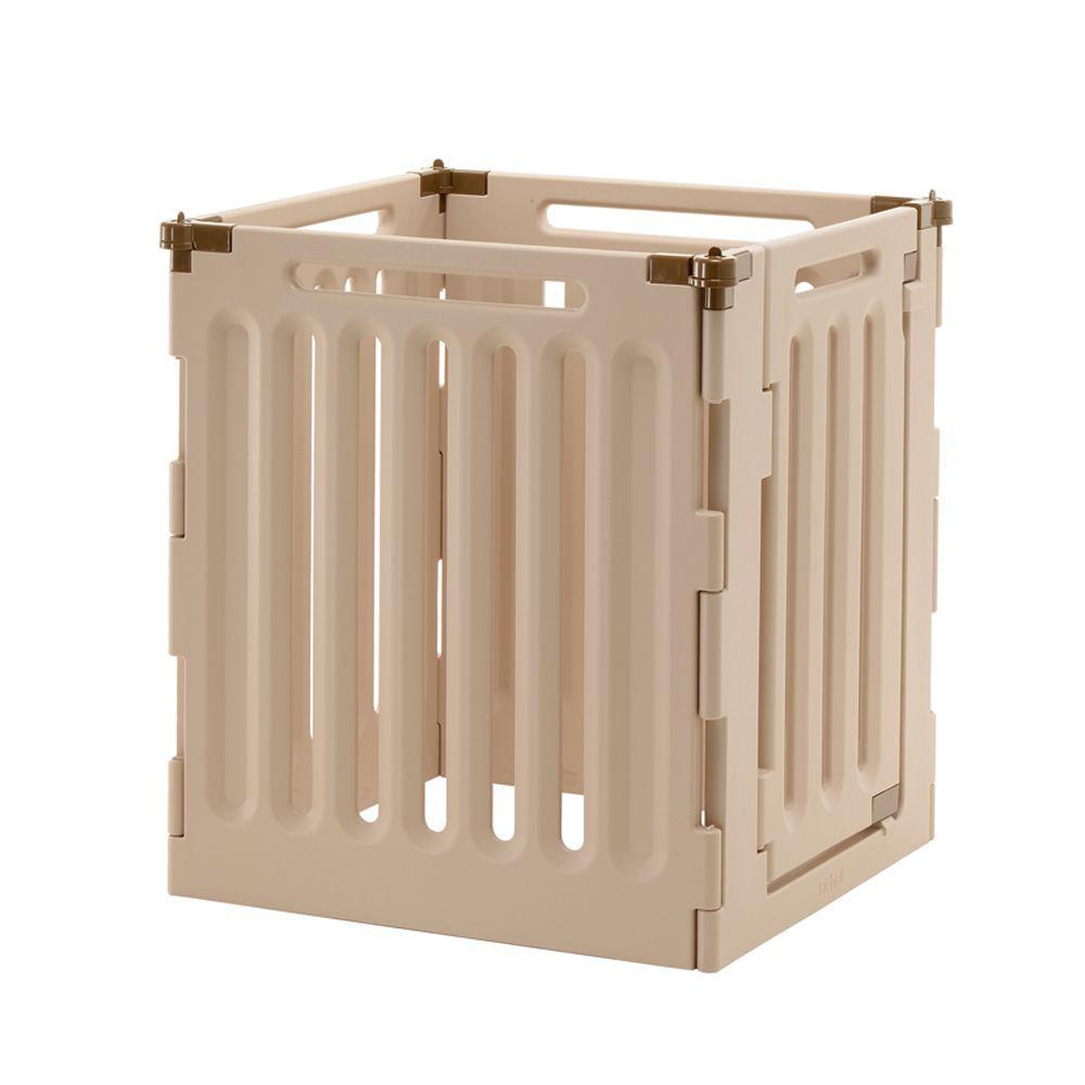 Richell High 4-Panel Plastic Convertible Indoor/Outdoor Pet Playpen by Richell