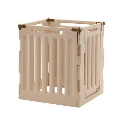 High 4-Panel Plastic Convertible Indoor/Outdoor Pet Playpen