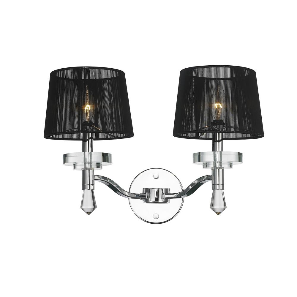 Worldwide lighting gatsby 2 light chrome crystal sconce w23135c17 worldwide lighting gatsby 2 light chrome crystal sconce aloadofball Gallery