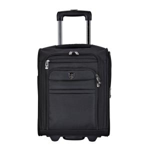 17 inch Underseater Carry-On Rolling Briefcase with 2-in-1 Function (USB Port Built in for Charging) by