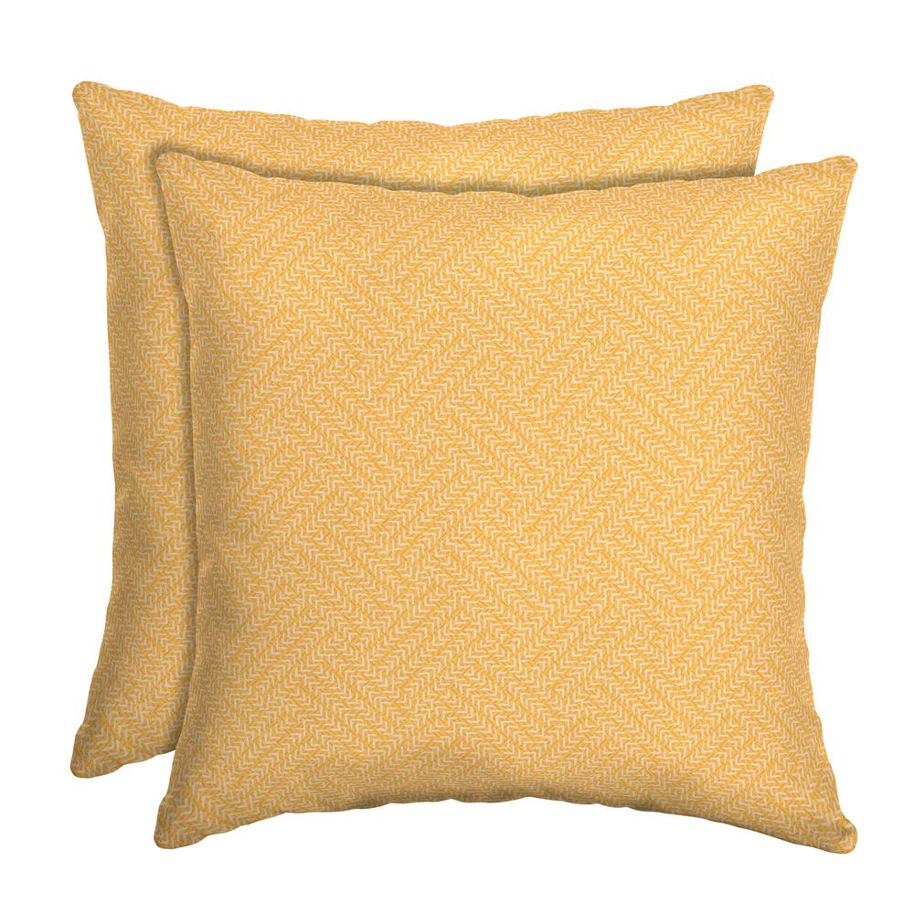 Arden Selections 16 X 16 Shirt Texture Square Outdoor Throw Pillow 2 Pack Th1j554b D9z2 The Home Depot